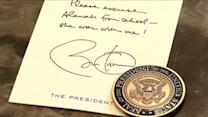 Girl gets excuse letter from President Obama