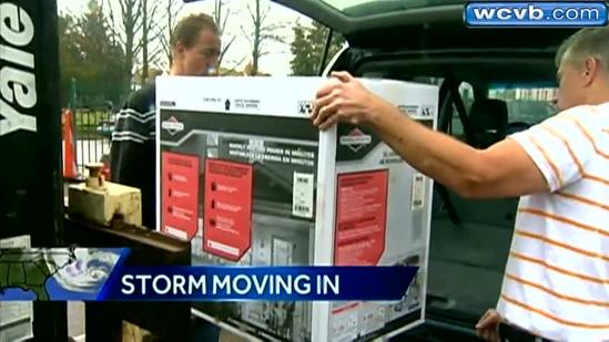 Storm supplies fly off grocery, hardware store shelves