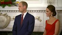 Princess Kate Dazzles in Red Dress