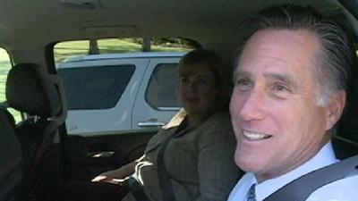 Romney Stops To Talk After Fundraiser