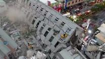 Buildings Collapse After Earthquake Rocks Taiwan