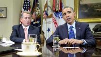 "Obama, Boehner talk ""cliff"" behind closed doors"