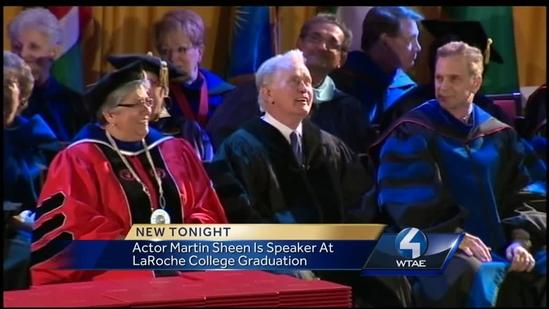 Actor Martin Sheen Speaks at LaRoche College