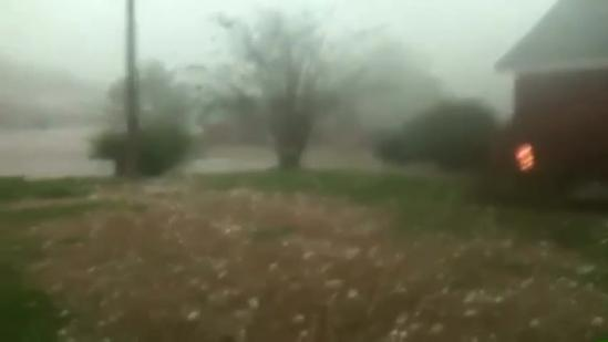 Clinton resident hit by hail