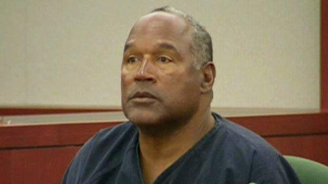 OJ Simpson relaxed on the stand