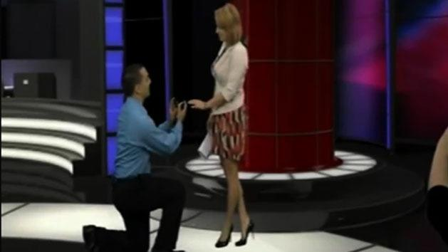 Anchor reads own marriage proposal