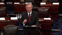 """Dems' """"extreme"""" positions shut down the gov't, McConnell charges"""