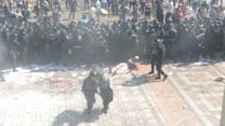 Ukrainian Police Clash With Protestors In Kiev