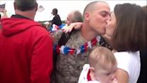 Soldier Meets Daughter Upon Arriving Home