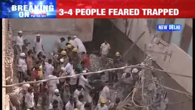 Building collapse in North