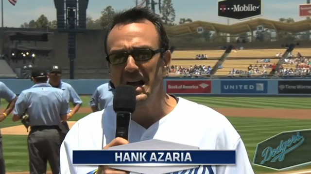Hank Azaria Voices Simpson's Characters For DodgersGame