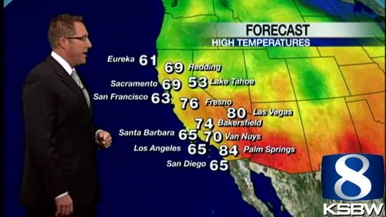 Get Your Friday KSBW Weather Forecast 4.05.13