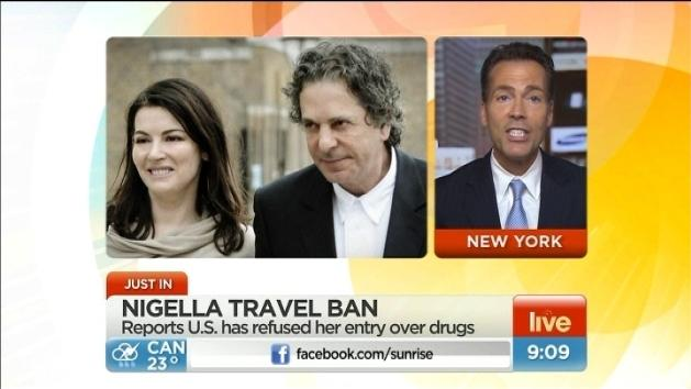 Nigella 'banned' from US travel