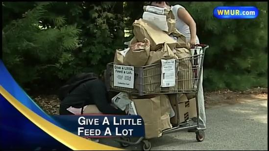 Students volunteer to help struggling food bank