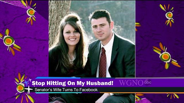 Senator`s wife to Facebook: stop hitting on my husband!
