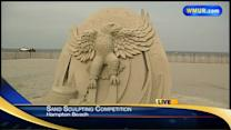 Sand sculpting competition underway in Hampton