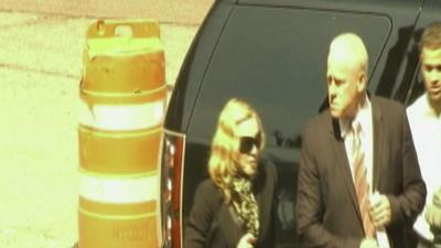 Raw: Madonna Arrives for Jury Duty, Briefly