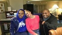 Jennifer Lopez y Chris Brown, juntos