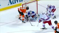 Simmonds sticks with rebound to start scoring