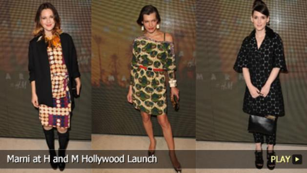 Marni at H and M Hollywood Launch