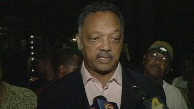 Rev. Jesse Jackson Encourages Occupy Protesters