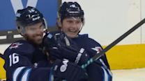 Jacob Trouba taps in a shorthanded goal