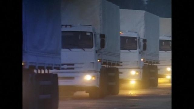 Russian convoy carrying humanitarian aid sets off for Ukraine