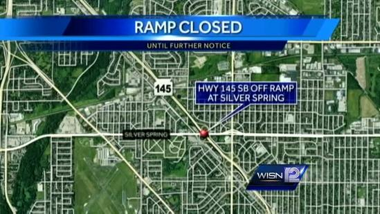 Hwy 145 south ramp at Silver Spring closed