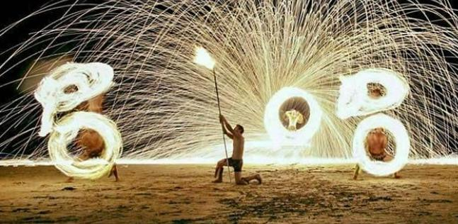 象島唯一的夜市 白沙灘精彩火舞秀
