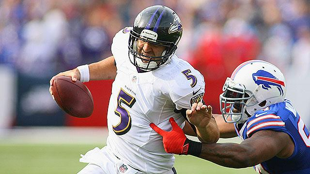 Flacco's tough day one of NFL Sunday surprises
