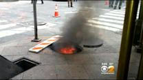 Manhole Covers Explode From The Ground In Midtown