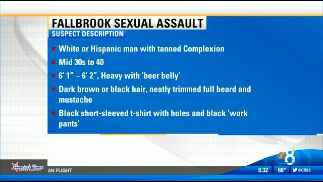 Jogger sexually assaulted in Fallbrook