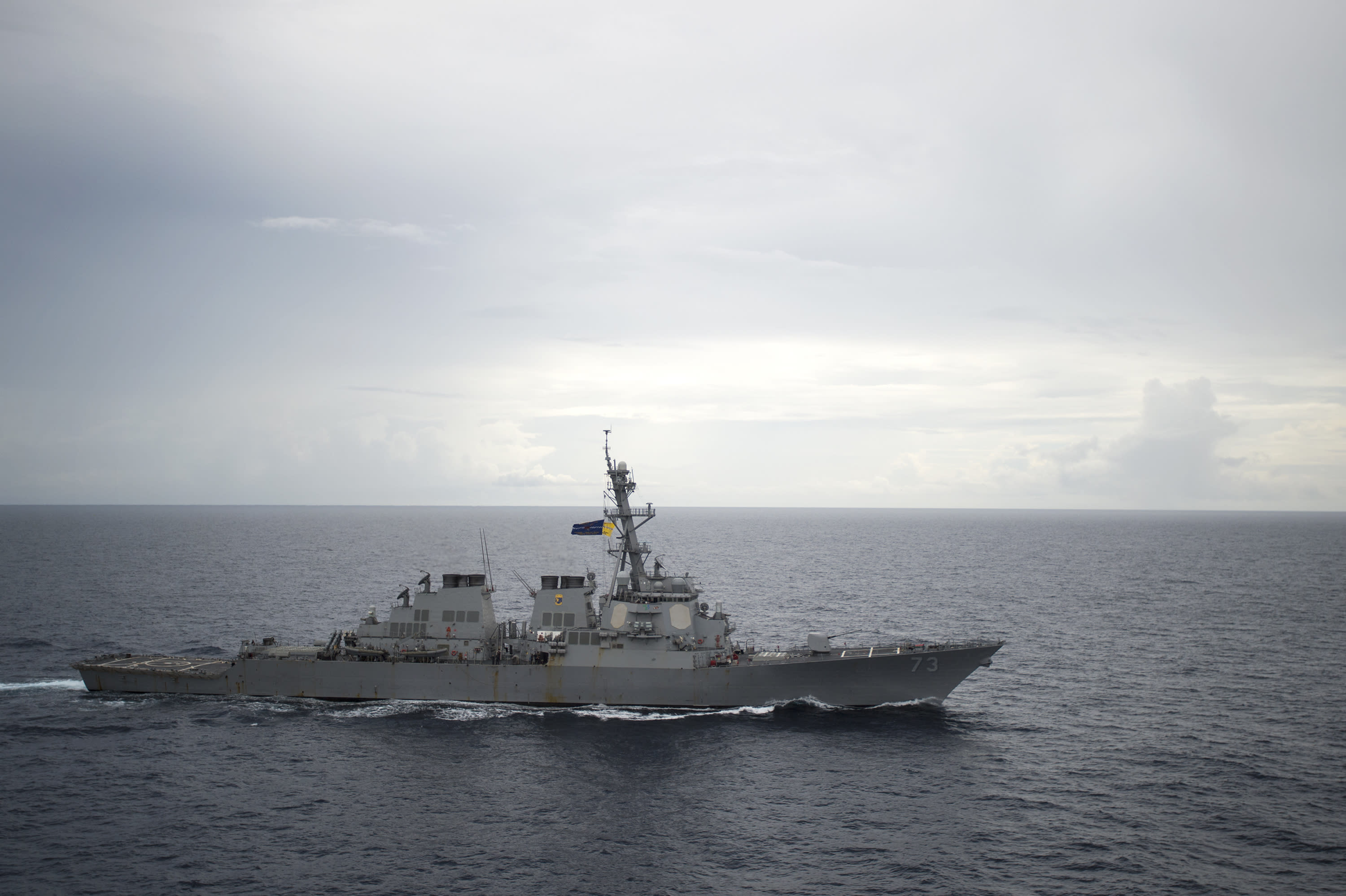 U.S. and Chinese warships narrowly avoid high-seas collision
