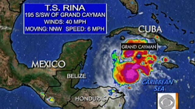 Tropical Storm Rina sweeps W. Caribbean