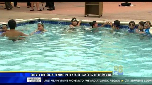 County officials remind parents of dangers of drowning
