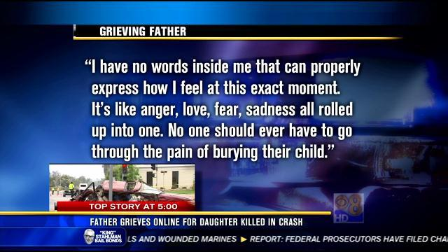 Father grieves online for daughter killed in Poway crash