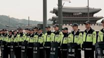 Huge police presence in Seoul ahead of Sewol ferry protest