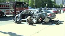Fire Truck Responding to Call Collides with Two Cars