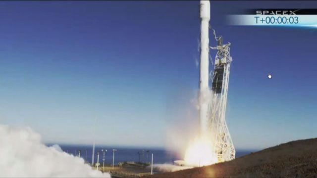 SpaceX Falcon 9 rocket launch in California