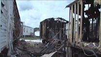 Fire spreads to three mobile homes