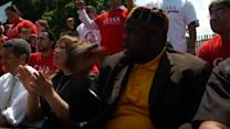Immigration activists protest at White House against child deportations
