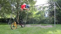 Backflip from Swing onto Bike
