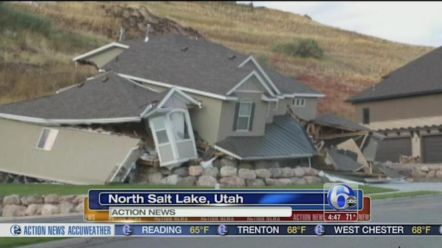 VIDEO: Video shows home collapsing after landslide in Utah