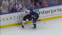Jackman nails Keith with a bruising hit