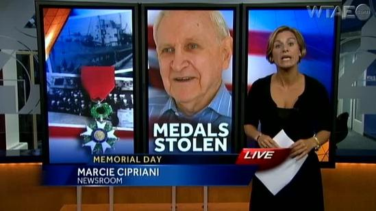 WWII vet's medal stolen day before presentation ceremony