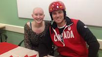Helmet inspires cancer patient, Olympic skier