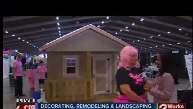 Playhouse turned pink for cancer victim