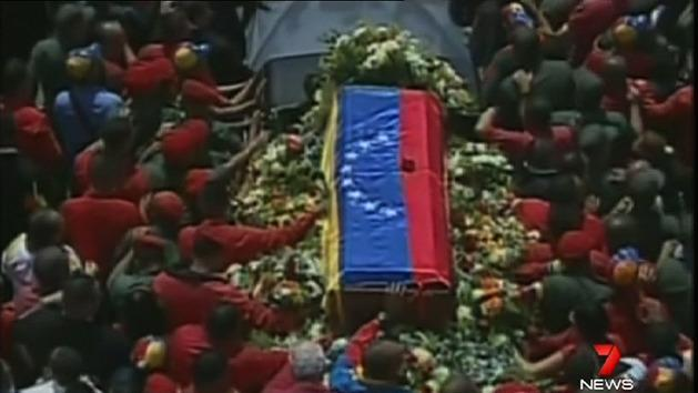 Week of mourning for Chavez
