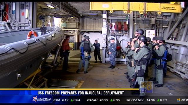 USS Freedom prepares for inaugural deployment