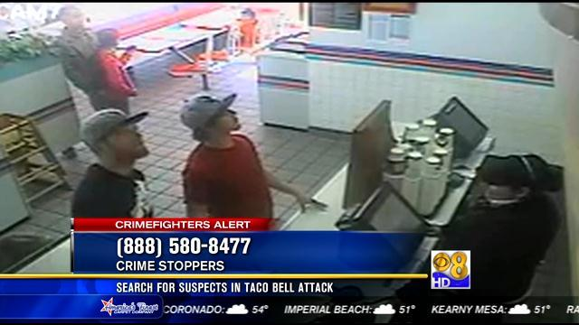 Search for suspects in Taco Bell attack